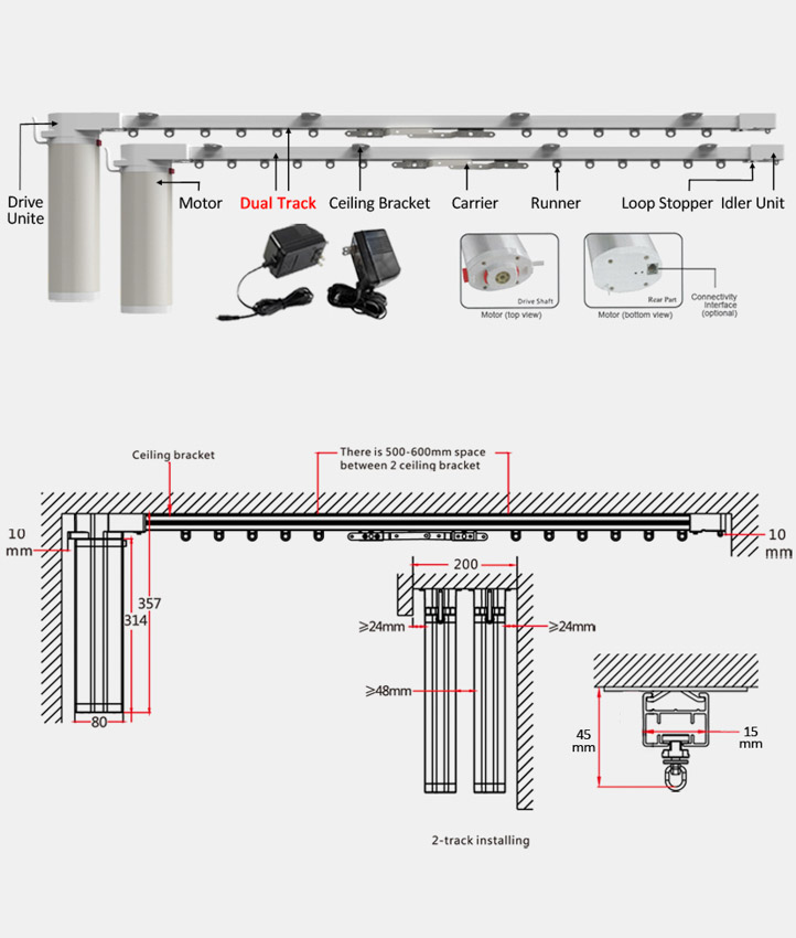 Automatic Curtain Cl 920a Dual Track Automatic Curtain System