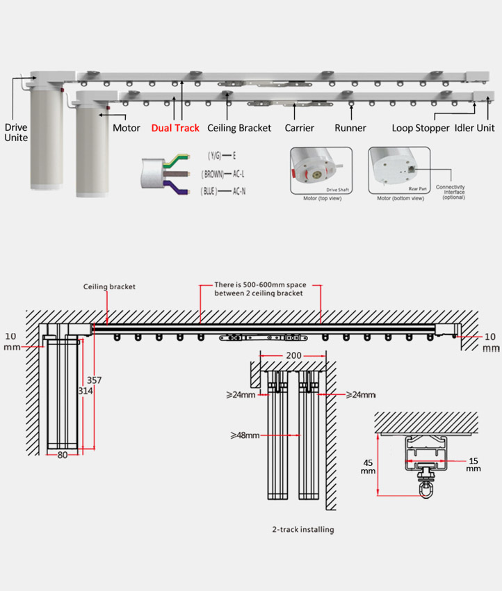 Automatic Curtain Cl 920c3 Dual Track Automatic Curtain
