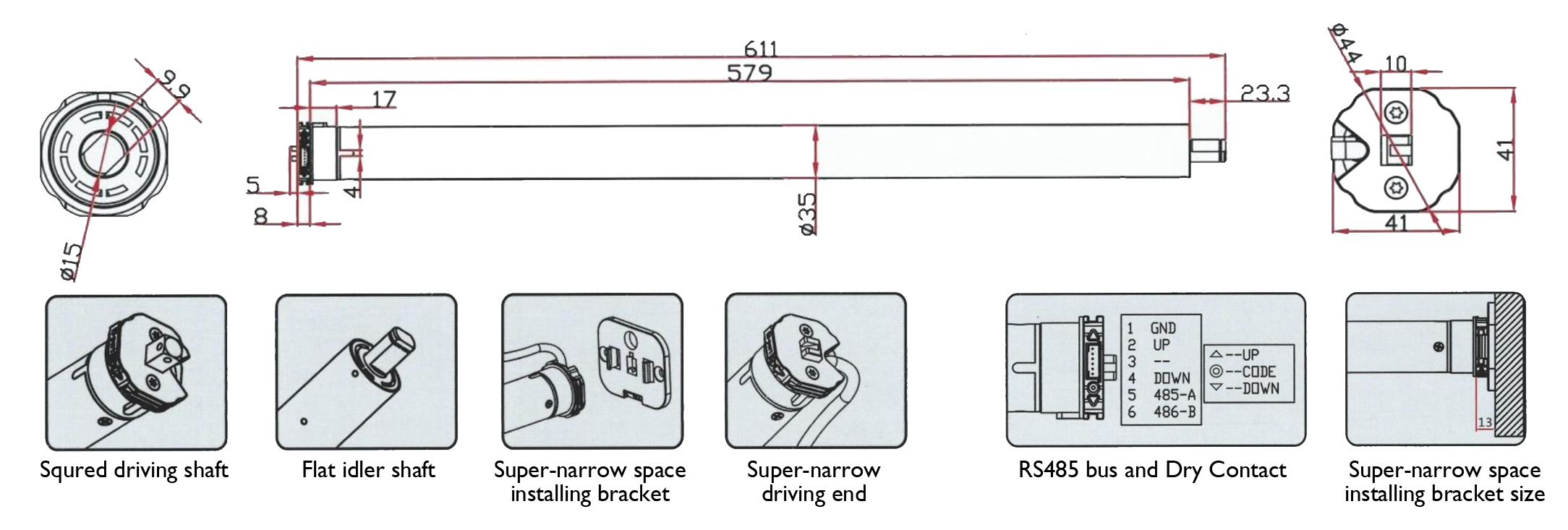 Rs485 Wiring Guide Free Diagram For You 2 Wire Automatic Curtain Remote Controlled Roller 4 Db9
