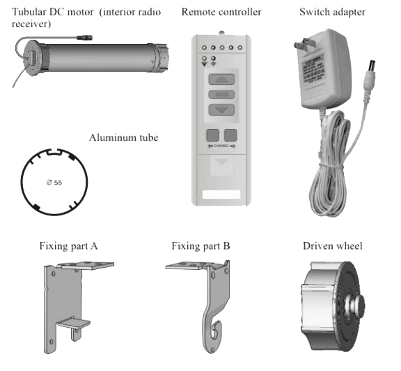 Remote Control Electric Roller Shade System II